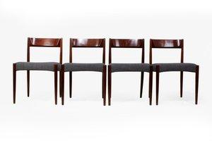 Chaises de Salon Mid-Century, Set de 4