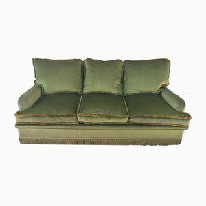 Vintage Green Velvet Sofa, 1960s