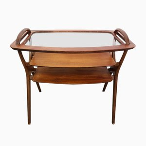 Vintage Rosewood & Glass Serving Trolley by Malcolm D. Walker for Dalescraft