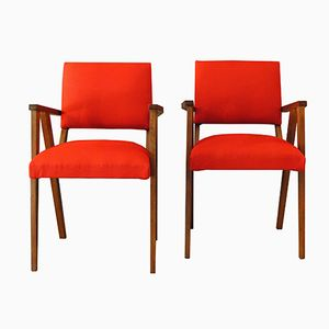Small Mid-Century Rosewood Armchairs, Set of 2