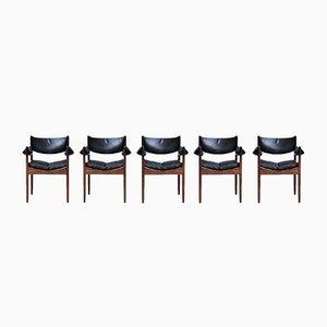 Palisander Esszimmerstühle von Kristian Vedel für Søren Willadsen, 1960er, 5er Set