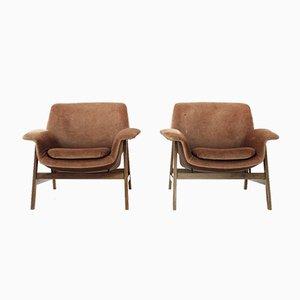 Velvet 849 Armlehnstühle von Gianfranco Frattini für Cassina, 1950er, 2er Set