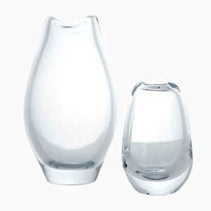 Glas Vasen von Per Lütken für Holmegaard, 1960er, 2er Set