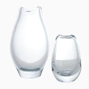 Glass Vases by Per Lütken for Holmegaard, 1960s, Set of 2