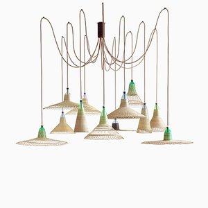Lampe Chimbarongo avec 12 Abat-jours par Alvaro Catalán de Ocón