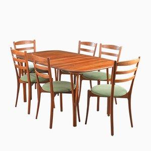 Table de Salle à Manger et 6 Chaises de Haslev Møbelsnedkeri, Danemark, 1970s
