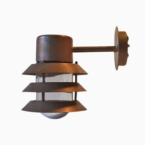 Copper Outdoor Wall Lamp from Design Light, 1980s