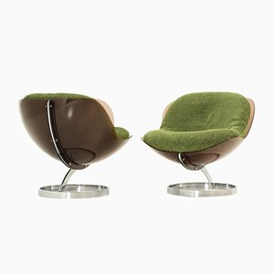 Sphere Lounge Chairs by Boris Tabacoff for Mobilier Modulaire Moderne, 1971, Set of 2