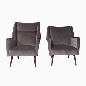 Mid-Century Modern Armchairs, Set of 2