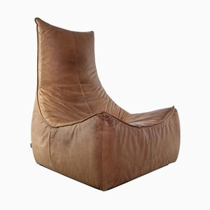 Rock Lounge Chair in Leather by Gerard van den Berg for Montis, 1970s