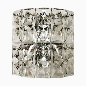 Large Crystal Glass Wall Lamp from Kinkeldey, 1960s
