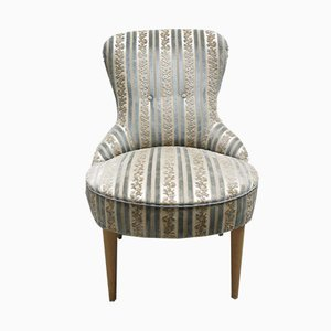Vintage Cocktail Armchair with Arched Back