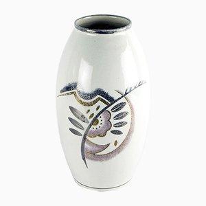 Art Deco Faience Vase von Boch Frères/la Louvière