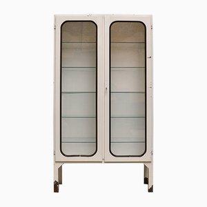 Vintage Eisen & Glas Arztschrank, 1970er