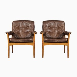 Carmen Easy Chairs from Göte Möbler, 1970s, Set of 2