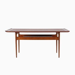 Teak Coffee Table with 2 Trays, 1970s