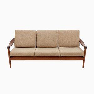 Teak 3-Seater Sofa from De Ster Gelderland, 1950s