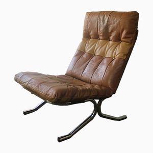 Dänischer Sessel mit hoher Rückenlehne, 1970er