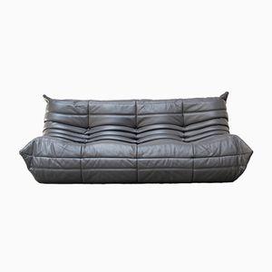 Vintage Leather Togo Sofa by Michel Ducaroy for Ligne Roset