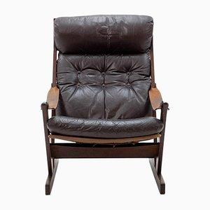 Norwegischer Leder Sessel, 1960er