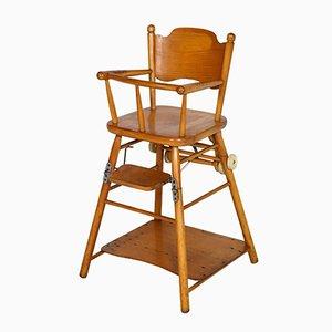 Chaise pour Enfant en Hêtre avec Table, 1960s