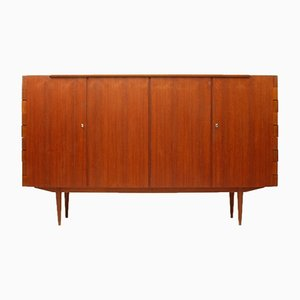 Teak Highboard with Hinge Joints, 1960s