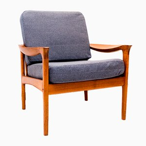Danish Teak Armchair by Illum Wikkelsø for Glostrup, 1960s