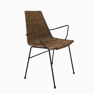 Wicker Armchair, 1960s