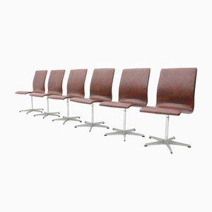 Oxford Chairs von Arne Jacobsen für Fritz Hansen, 1960er, 6er Set