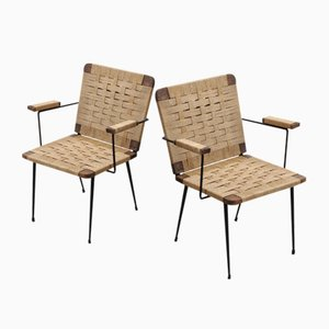 Rope Lounge Chairs by Giuseppe Pagano for Montina, 1940s, Set of 2