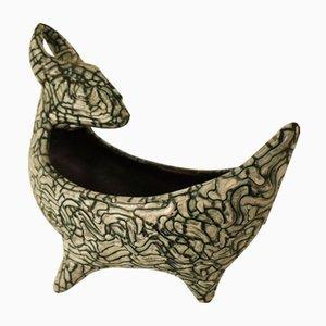 Ceramic Decorative Bowl by Geza Gorka, 1940s