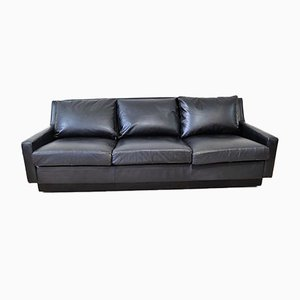 Mid-Century Three-Seater Leather Sofa