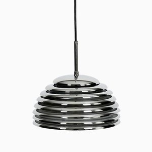 Saturno Chrome Pendant Lamp by Kazuo Motozawa for Staff, 1970s