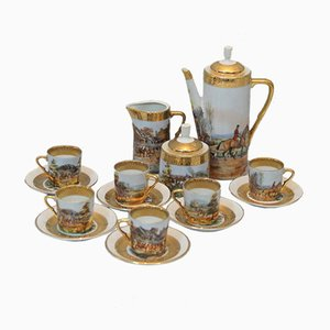 Mid-Century Limoges Porcelain Coffee Set