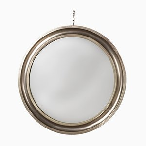 Round Mirror with Metal Frame by Sergio Mazza for Artemide, 1961