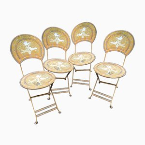 Painted Garden Chairs, 1960s, Set of 4