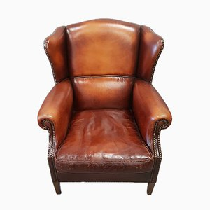 Sheep Leather Wing Chair from Muylaert, 1970s