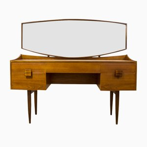 Teak & Afromosia Dressing Table with Rosewood by Ib Kofod Larsen for G-Pan, 1960s