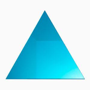 Dreieckiger WOW Spiegel in Neontürkis von Dozen Design