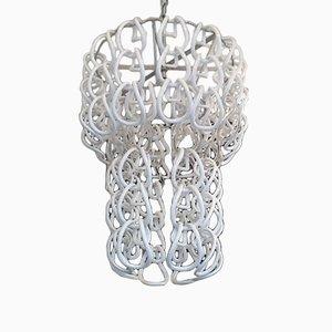 Kronleuchter mit Hufeisen Ringe von Angelo Mangiarotti für Vistosi