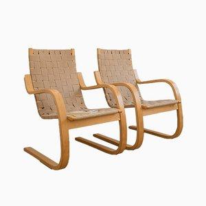 Chaises, Modèle 406, en Bouleau par Alvar Aalto pour Artek