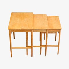 Scandinavian modern nesting stacking tables online at pamono at 40 nesting tables by hans j wegner for andreas tuck 1960s set watchthetrailerfo