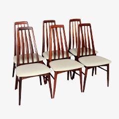 Eva Chairs by Niels Koefoed for Koefoed Hornslet, 1964, Set of 6