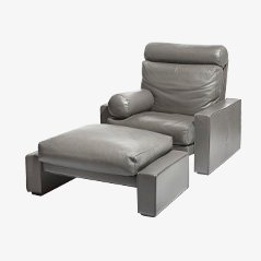 Victoria Lounge Chair & Ottoman by Mario Bellini for Cassina, Set of 2