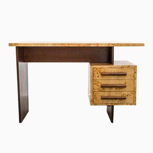 Mid Century Freestanding Desk in Veneered Birch, 1950s