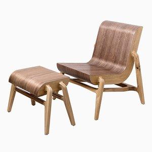 Overlap Stuhl & Fußhocker von Nadav Caspi