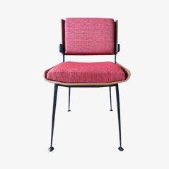 Red Fabric Chair by Alain Richard, 1970s