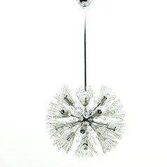 Chrom und Glas Löwenzahn Kronleuchter von Emil Stejnar, 1960er