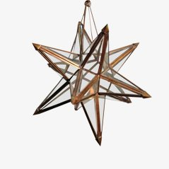 Solid Brass and Glass Decorative Star