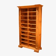 Antique Carved Wood Shelving Unit